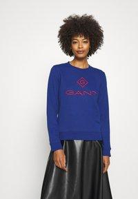 GANT - COLOR LOCK UP CNECK  - Sweatshirt - crisp blue - 0