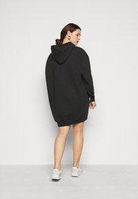 Missguided Plus - HOODIE DRESS - Day dress - black - 2