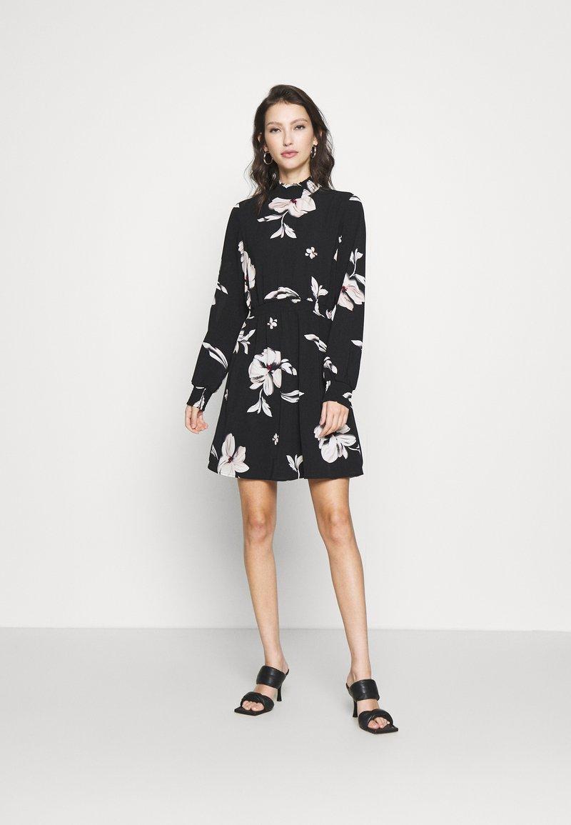 ONLY - ONLWINNER HIGHNECK DRESS - Day dress - black
