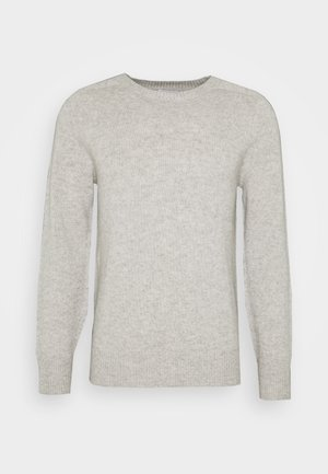 GORDON - Strikkegenser - light grey mel