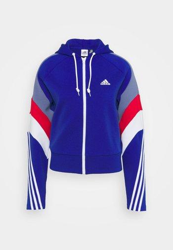 Zip-up sweatshirt - bold blue