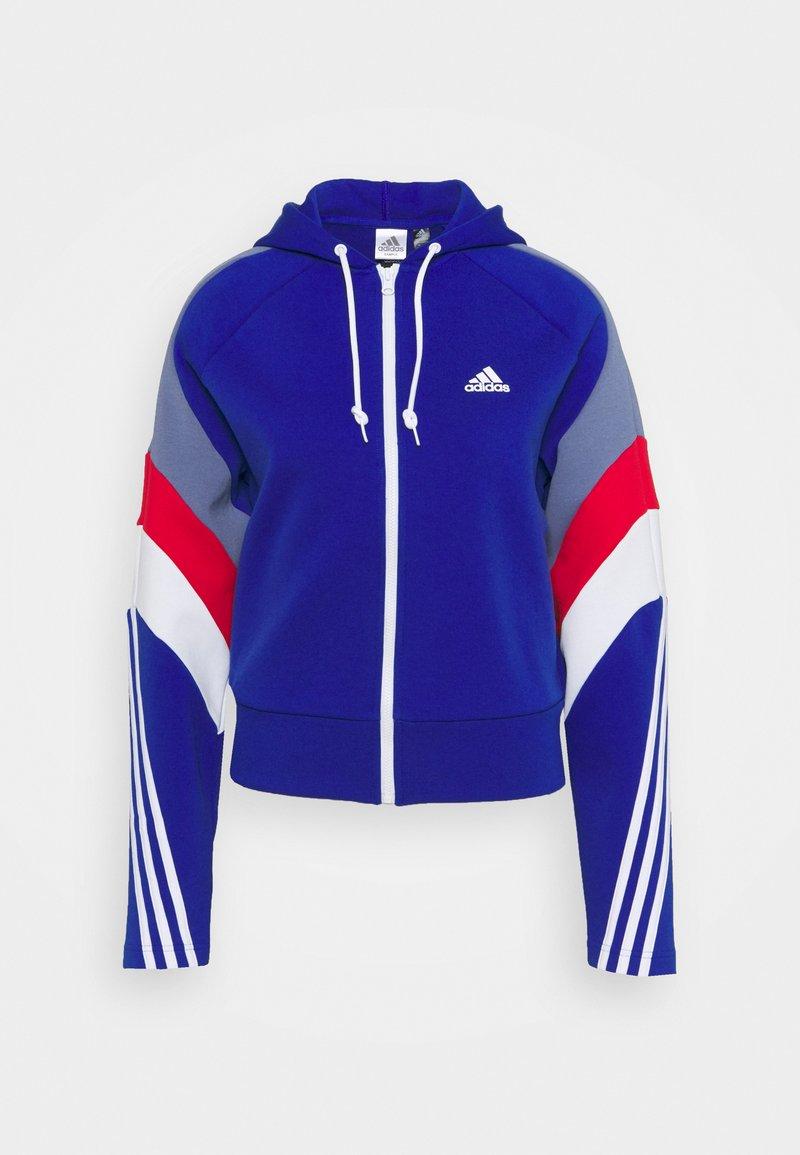 adidas Performance - Zip-up sweatshirt - bold blue