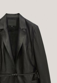 Massimo Dutti - MIT GÜRTEL - Leather jacket - black - 5