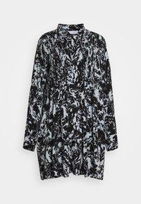 Proenza Schouler White Label - PRINTED GEORGETTE BABY DOLL DRESS - Denní šaty - seal blue/black - 0