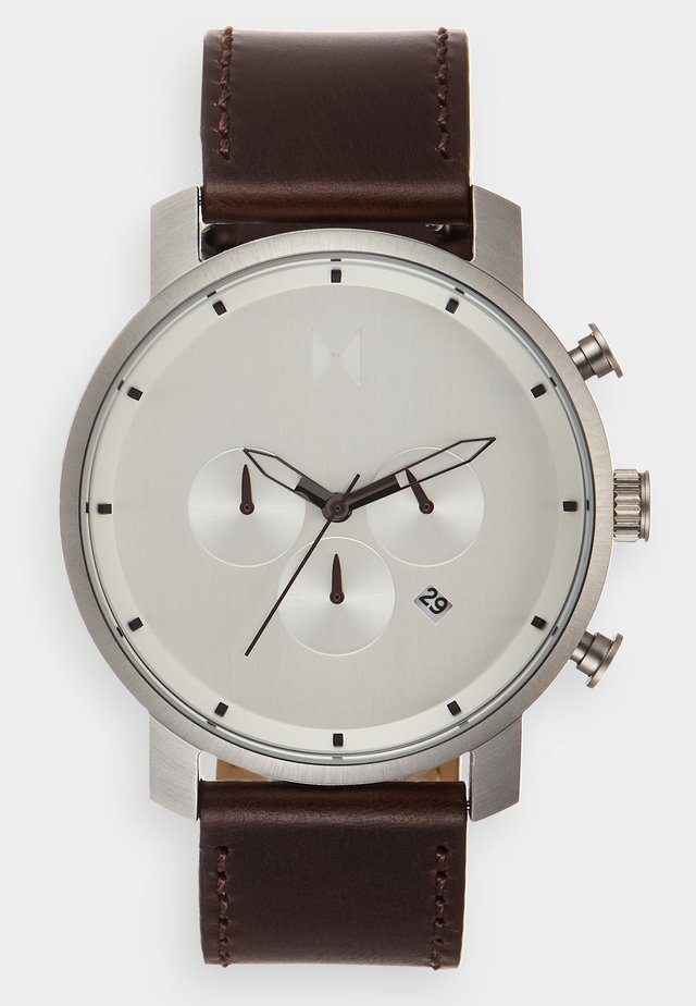 Zegarek chronograficzny - silver-coloured/brown