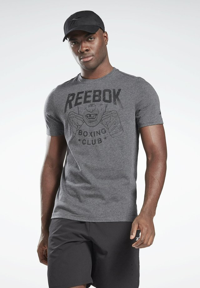 REEBOK BOXING CLUB T-SHIRT - T-shirts med print - grey