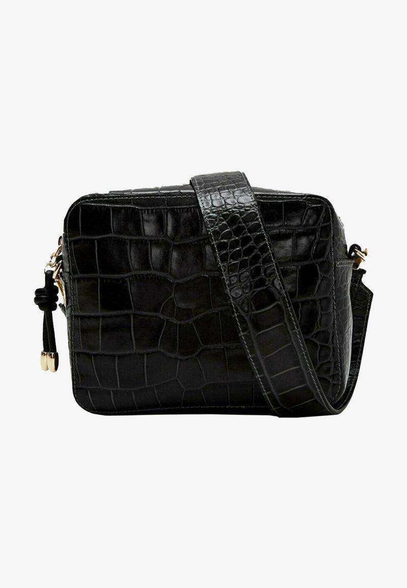 Uterqüe - MIT KROKOPRÄGUNG 01013700 - Across body bag - black