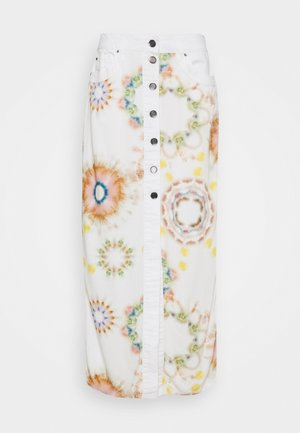 SUNNY DAY - Pencil skirt - white