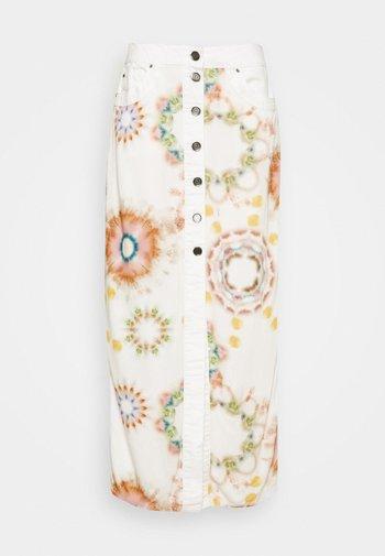 SUNNY DAY - Pencil skirt - white