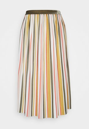 ONLNEW KINSLEY SKIRT - Pleated skirt - chai tea/kalamata/deep sea coral