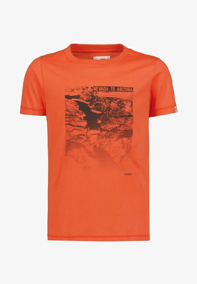 Print T-shirt - tomato