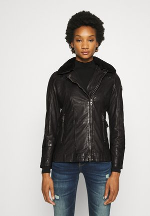 SALLIE - Leather jacket - black