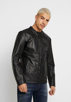 PUREJOHN - Leather jacket - black