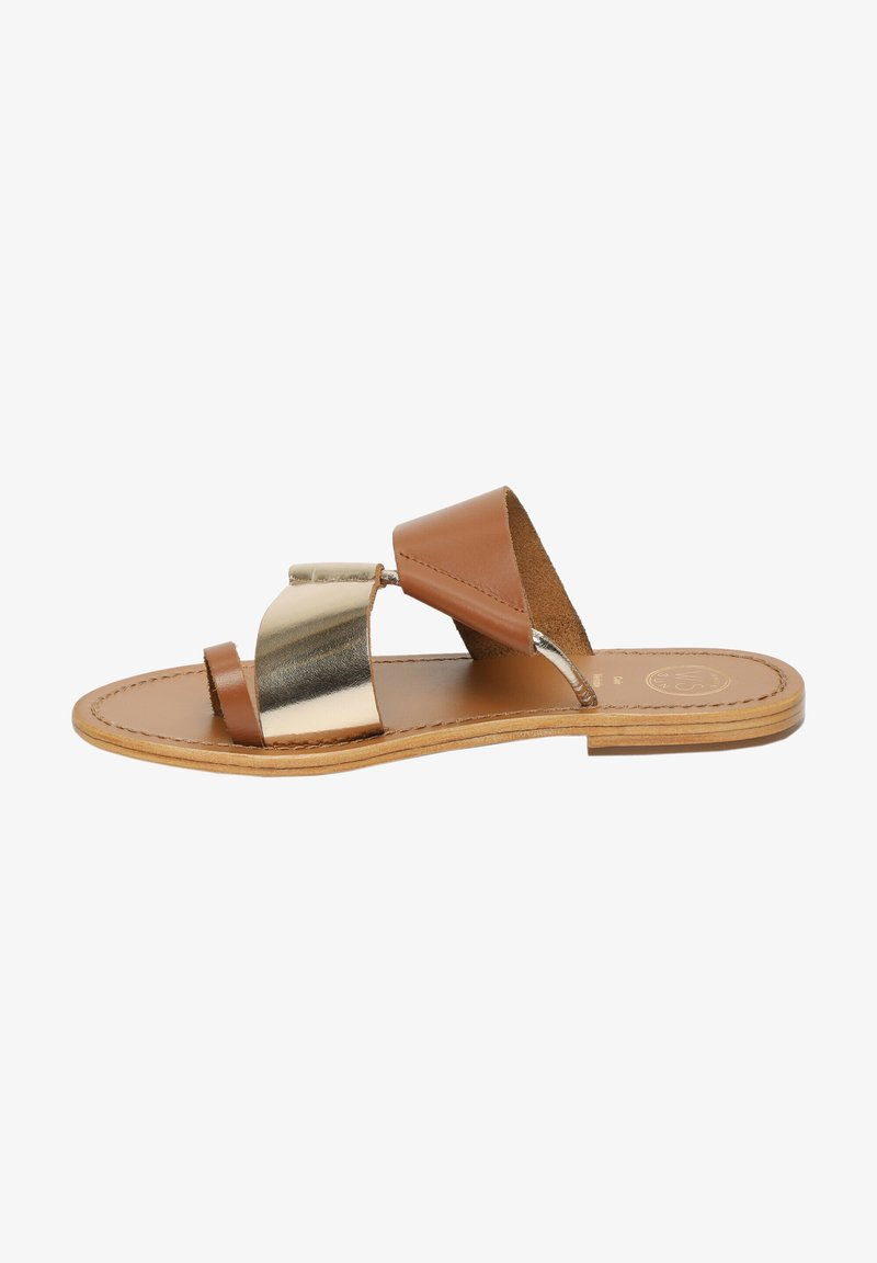 White Sun - COLIN  - T-bar sandals - camel
