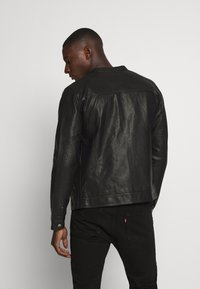 Jack & Jones - JORWARNER JACKET - Faux leather jacket - black - 2