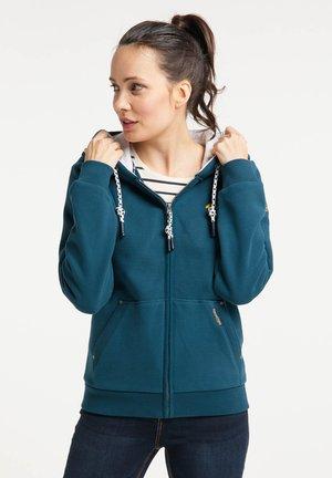 Zip-up sweatshirt - petrol