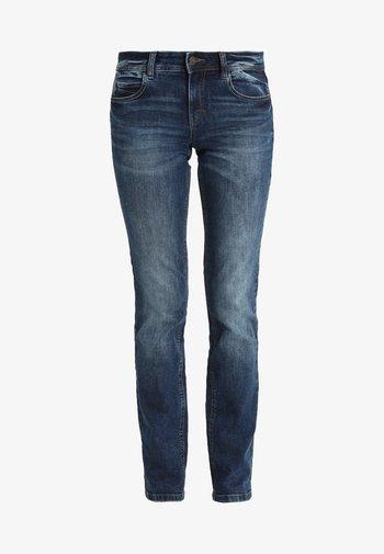 ALEXA - Straight leg jeans - mid stone wash denim blue