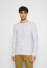 INDICODE JEANS - KRISTAN - Stickad tröja - optical white - 0