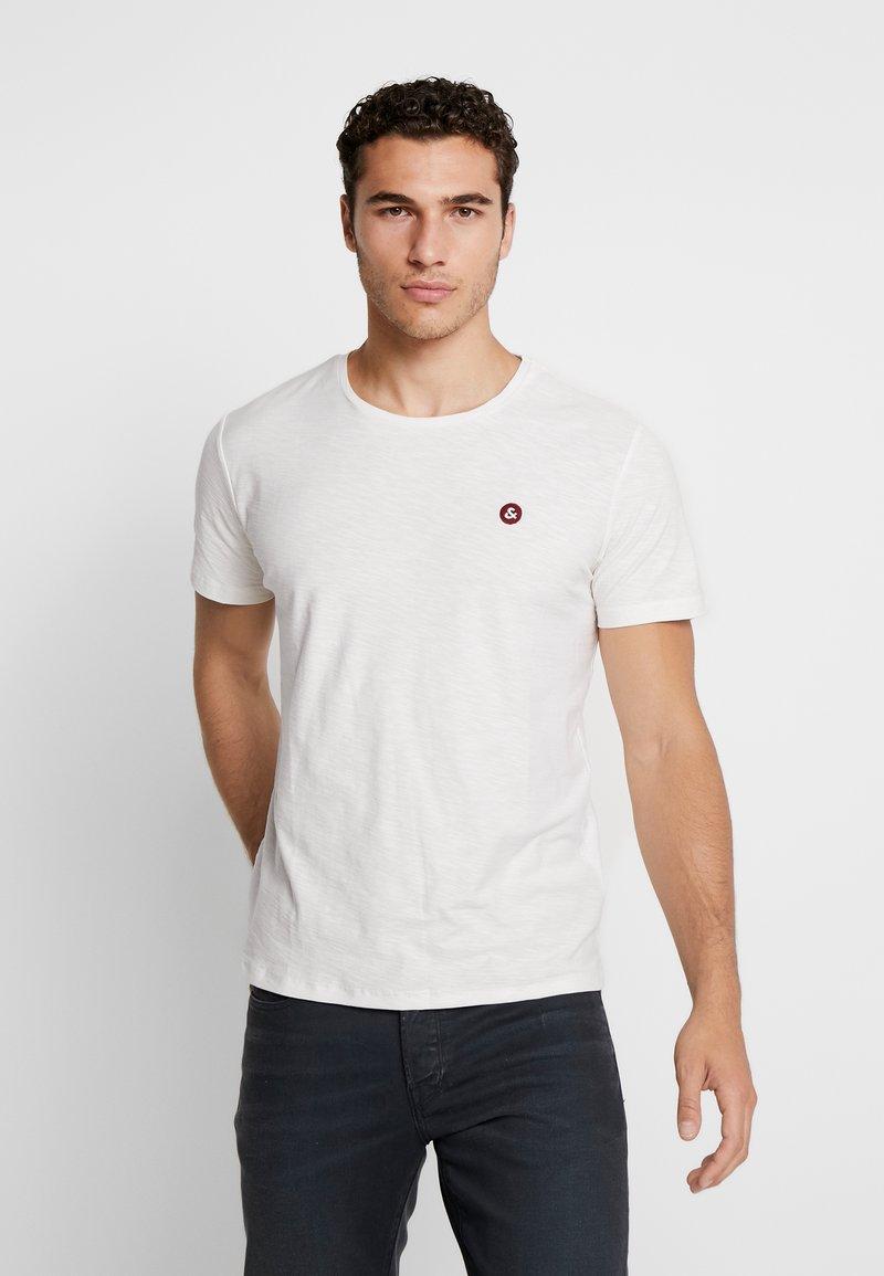 Jack & Jones - JORSTRUC TEE CREW NECK - Basic T-shirt - cloud dancer