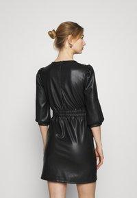 Noisy May - NMHILL SLEEVE STUD DRESS - Sukienka letnia - black - 2