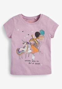 Next - 2-PACK - Print T-shirt - lilac - 1
