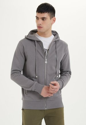 ESSENTIALS  - veste en sweat zippée - charcoal grey