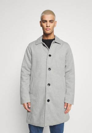 COAT - Classic coat - mottled light grey