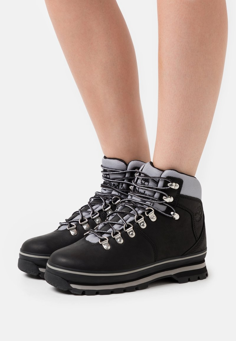Timberland - EURO HIKER WP BOOT - Lace-up ankle boots - black