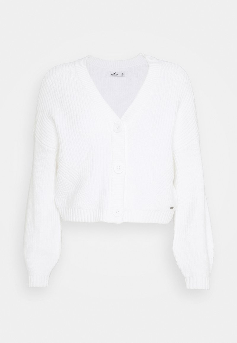 Hollister Co. - EASY CROP CARDI - Kardigan - white