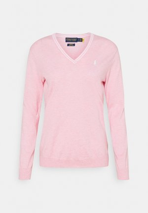 VNECK LONGSLEEVE - Sweter - carmel pink heather/pure white