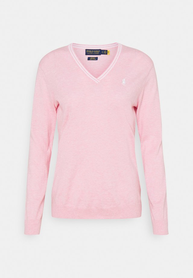 VNECK LONGSLEEVE - Svetr - carmel pink heather/pure white