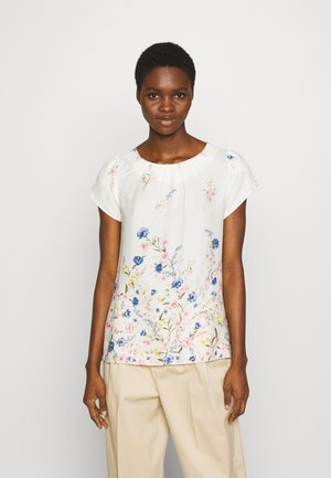 BILLIE AND BLOSSOM FLORAL BOARDER SHELL - Blouse - white