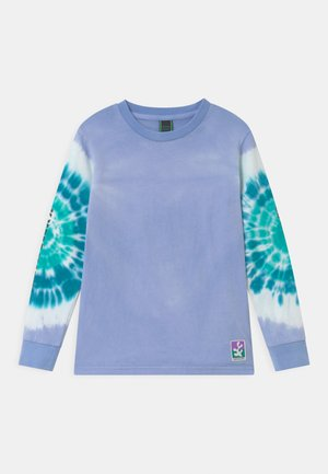 LONG SLEEVE WITH PLACED TIE-DYE AND ARTWORKS - Long sleeved top - lavender