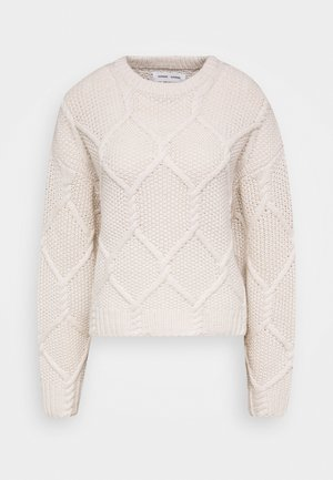 PAULA CREW NECK - Svetr - whisper white