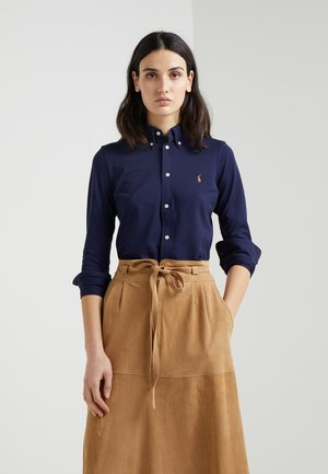 HEIDI LONG SLEEVE - Button-down blouse - cruise navy