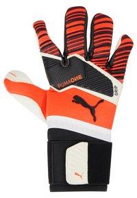 Puma - ONE GRIP HYBRID PRO - Goalkeeping gloves - red/black/white - 3