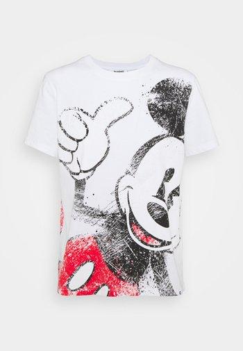 MICKEY - T-shirt con stampa - white