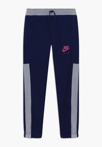 Nike Sportswear - Tracksuit bottoms - blue void/white/fire pink - 0