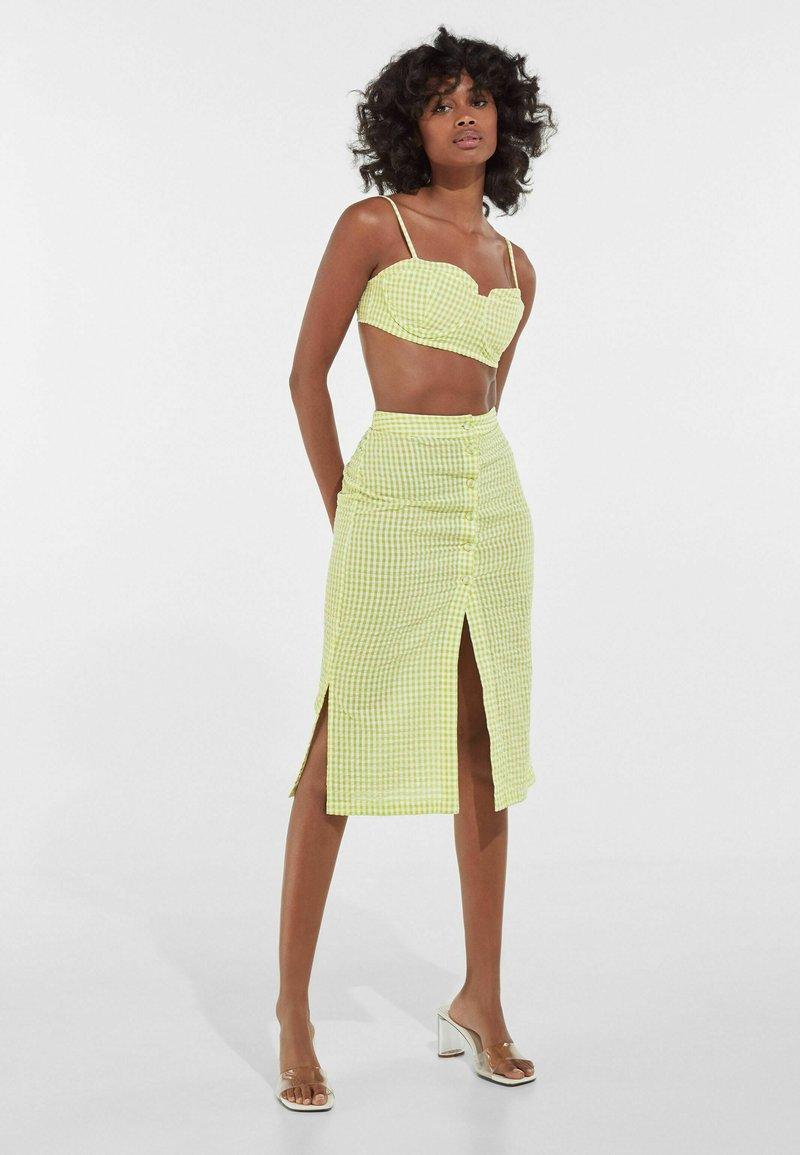 Bershka - A-line skirt - yellow