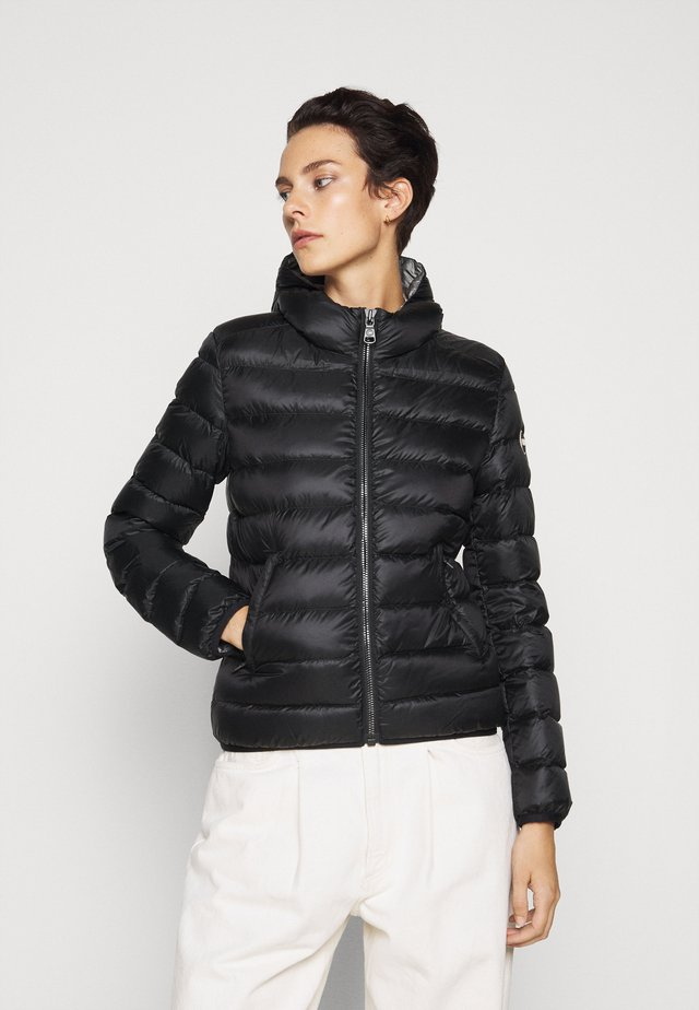 LADIES JACKET - Gewatteerde jas - black/dark steel