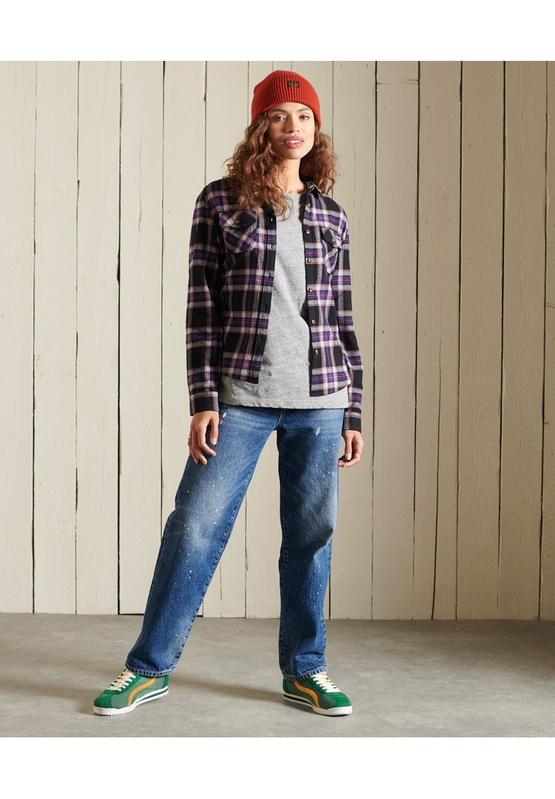Superdry - CLASSIC - Button-down blouse - hatton check navy
