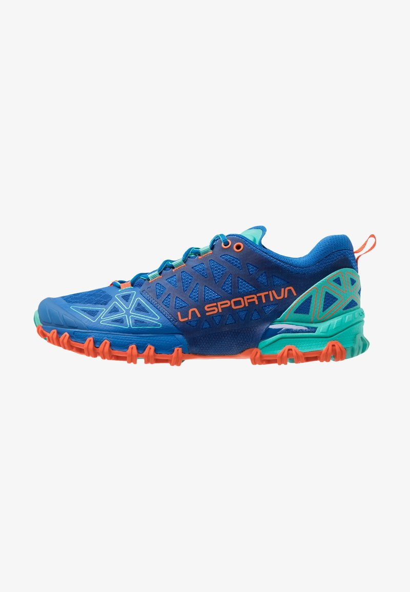 La Sportiva - BUSHIDO II WOMAN - Trail running shoes - marine blue/aqua