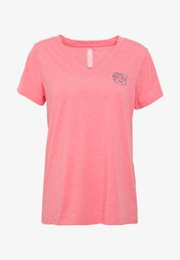 ONPMAE V NECK TEE - T-Shirt basic - strawberry pink