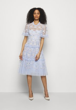DITSY RIBBON MIDI DRESS - Cocktail dress / Party dress - wedgewood blue