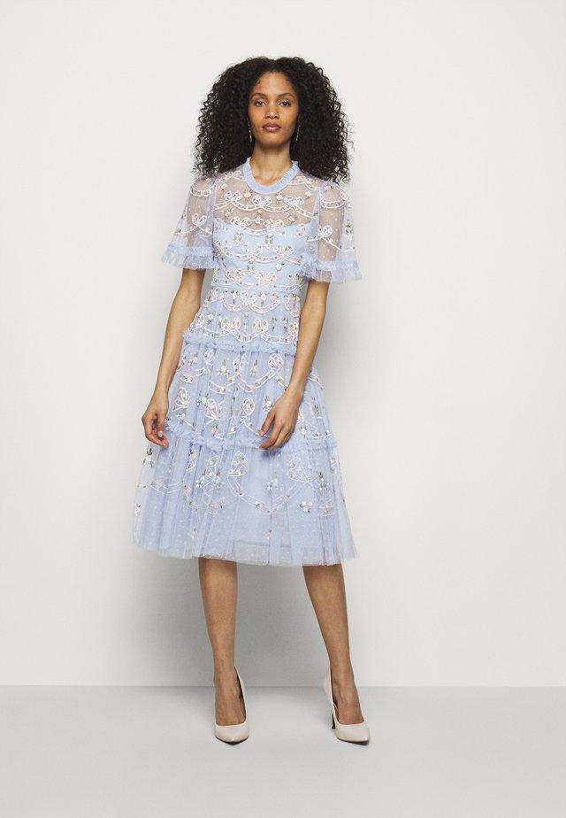 DITSY RIBBON MIDI DRESS - Cocktail dress / Party dress - wedgewood blue