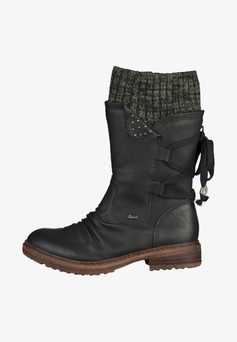 Rieker - Stivali con i lacci - black/grey