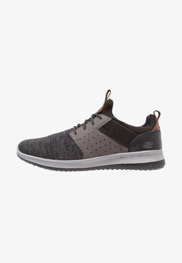 DELSON - Slip-ons - black/grey