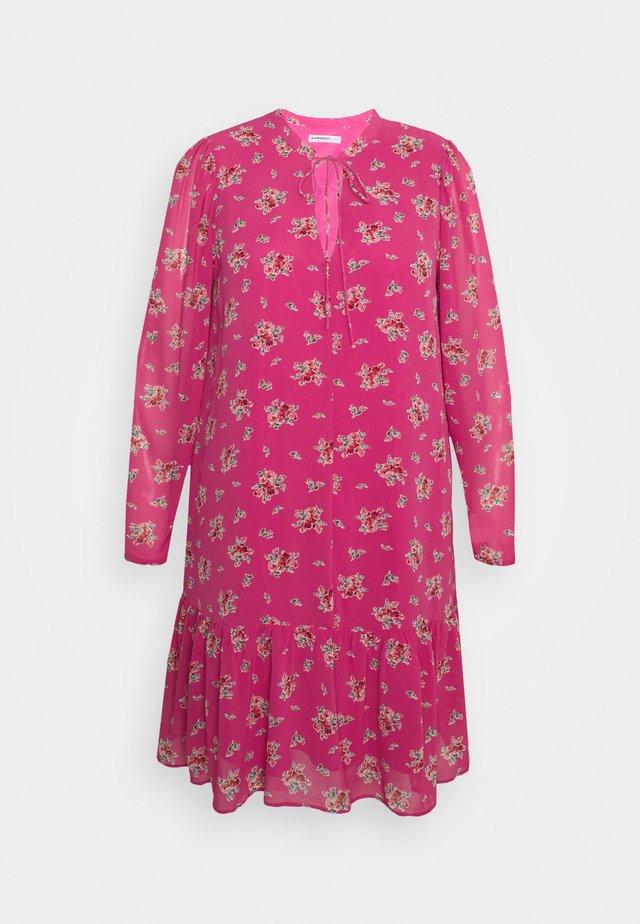Korte jurk - pink floral