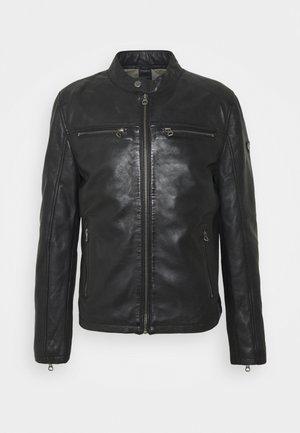 JON LANIV - Veste en cuir - schwarz