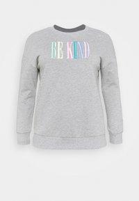Simply Be - EBROIDERED CREW - Sweatshirt - grey marl - 3